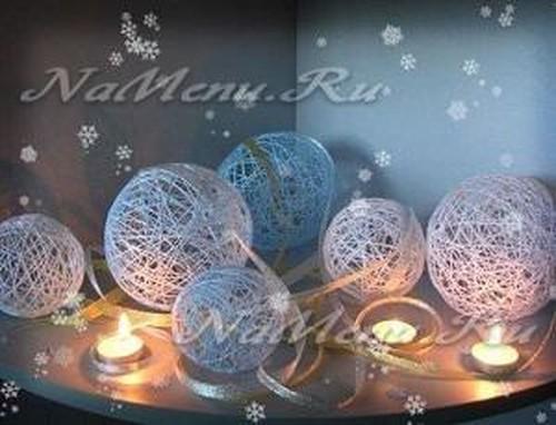 Новогодние шары самостоятельно