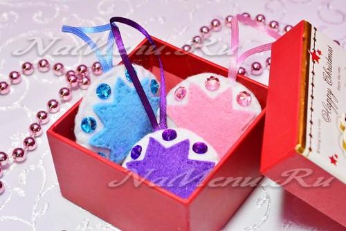 Елочные игрушки из <u>мастер</u> фетра своими руками, выкройка и пошаговая инструкция