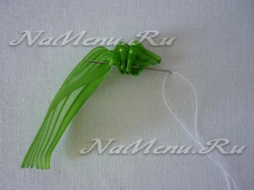 Прошиваем ленту зеленого цвета