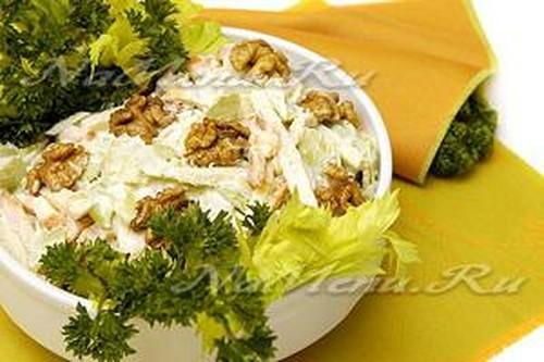 Салат с овощами в пост