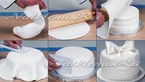 Как сделать торт с мастикой