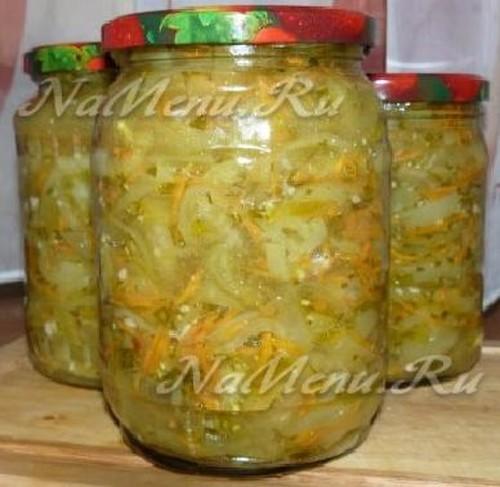 Салат из зеленых помидоров на зиму рецепт с фото - пошаговое