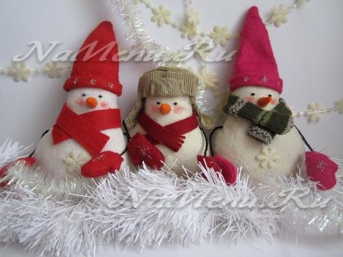 Как сшить снеговика на Новый год своими руками