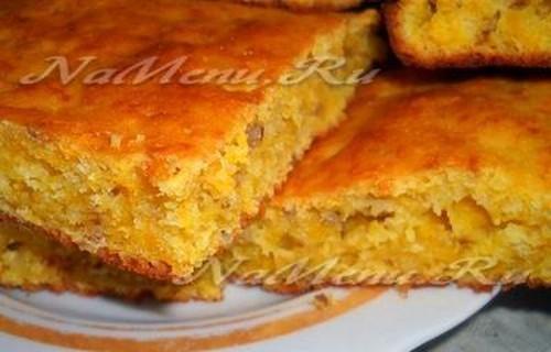 Пирог с тыквой в мультиварке рецепт с фото