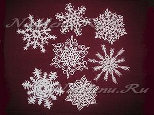 Трафареты снежинок на Новый год для вырезания