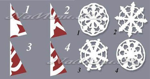 схемы снежинок для вырезания из бумаги