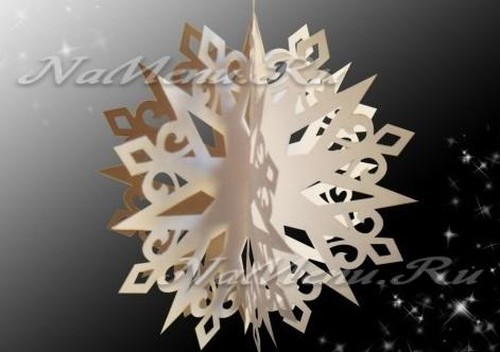 Снежинка звезда