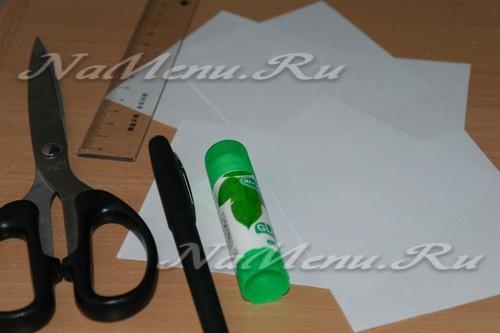 Материалы для создания объемной снежинки из бумаги своими руками