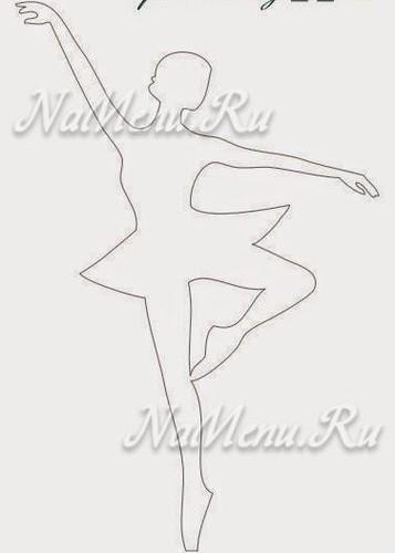 снежинки балеринки из бумаги шаблоны для вырезания распечатать