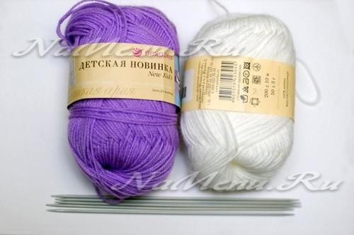 пряжа и спицы для вязания носочков