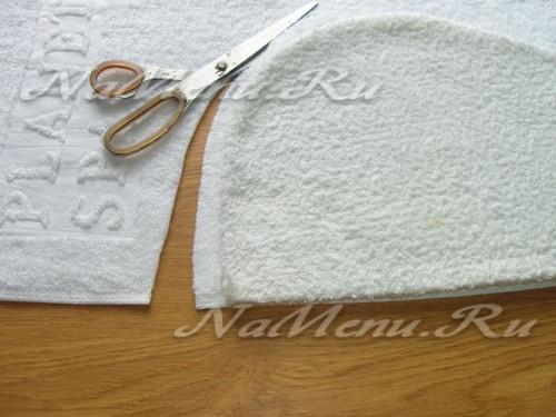 Вырезаем выкройку для пошива чалмы