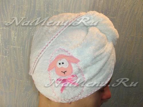 Полотенце-чалма для сушки волос своими руками