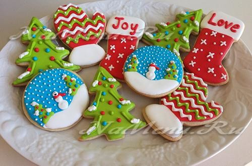 Шаблоны для пряников и печенья на Новый год