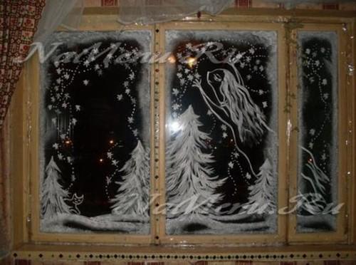 Трафареты на окна к Новому году 2018 для вырезания формата А4