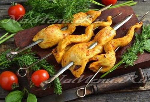 как из курицы сделать вкусный шашлык
