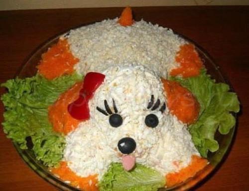 салат собака на на новый год