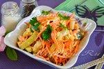 """Салат """"Лисичка"""" от корейской морковкой"""