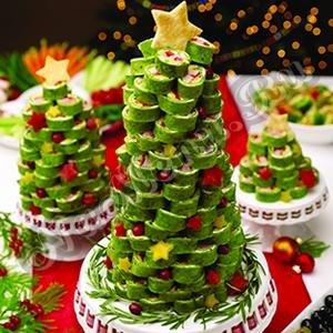 украшение салатов с фото к новому году