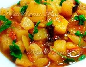Рецепт картошки с мясом