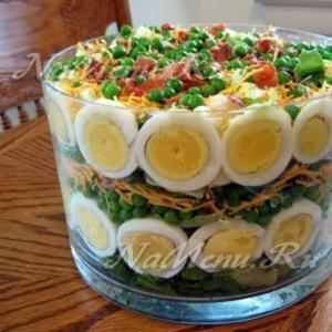 салаты на 2015 пошаговые рецепты