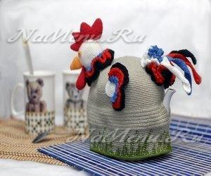 Грелка «Петушок» на чайник крючком