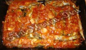 Готовое блюдо из мойвы