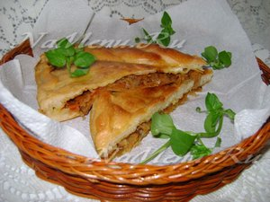 Наливной пирог с капустой на кефире рецепт с фото в духовке