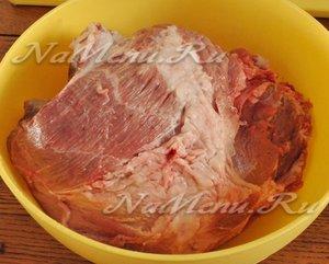 мясо промыть
