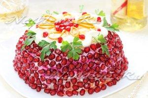Рецепт салата-торта с мясом «Роскошь»