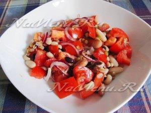 салат с тунцом и чечевицей рецепт