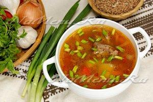 Гречневый суп рецепт пошагово с мясом