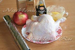 ингредиенты для курицы с яблоками