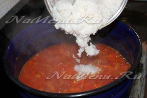 Соединяем рис с овощами