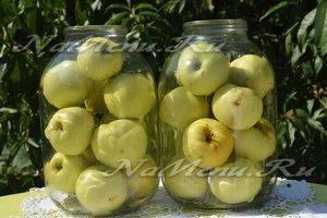 Заложить яблоки