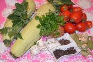 Продукты для маринованных кабачков