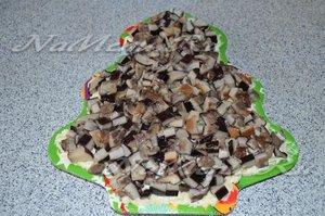 слой соленых грибов