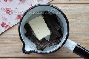 Соединить масло и шоколад