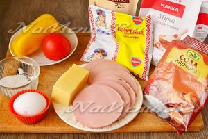 Ингредиенты для приготовления быстрой пиццы