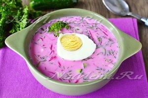 Свекольник холодный рецепт классический на кефире