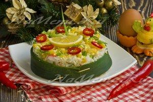 Рецепт крабового салата с кукурузой и сельдереем