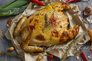 Рецепт фаршированной курицы без косточек
