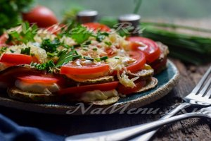 рецепт жаренных кабачков с помидорами