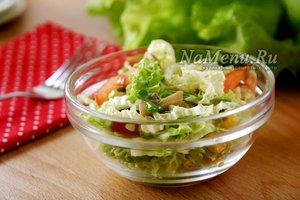 Узбекский салат из зеленой редьки