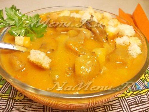 рецепт простейшего супа с грибами