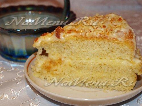 Пирог со сметанным кремом в мультиварке