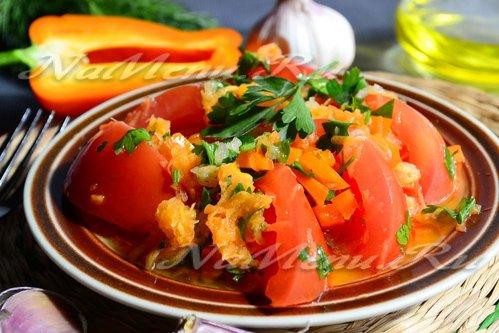 Салат помидоры по-корейски