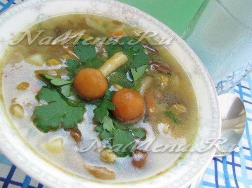 рецепт постного супа с грибами и гречкой