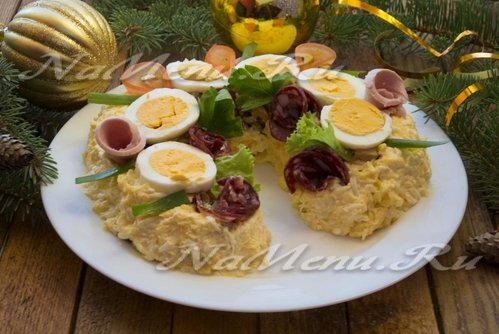 Новогодний салат «Подкова»