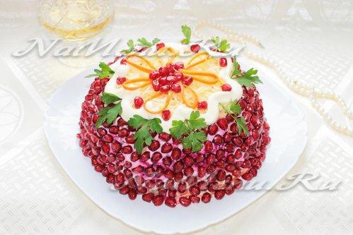 Салат-торт с мясом «Роскошь»