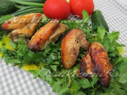 Куриные крылышки гриль в маринаде